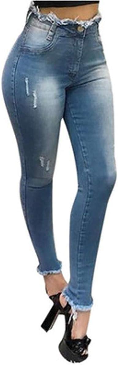Jeans Pantalones Para Mujer Moda Ajustados Con Borla Pantalones De Cintura Alta Casual Elegante Pantalones De Mezclilla Eelasticos Vaqueros Mujer Baratos Amazon Es Ropa Y Accesorios