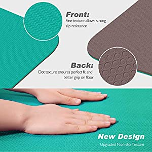 TOPLUS Yoga Mat, Classic Pro Fitness Mat TPE Eco Friendly Non Slip Exercise Mat with Carrying Strap-Workout Mat for Yoga, Pilates and Gymnastics 183 x 61 x 0.6CM