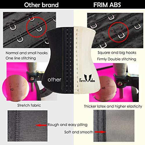 a266e82fe3 FIRM ABS Women s Latex Waist Trainer Underbust Corset Body - Import It All