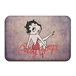 Personalizada de interior o al aire libre Felpudo diseño de Betty Boop cocina Felpudo alfombrilla de baño, antideslizante y delgado diseño, tamaño 40x 60cm