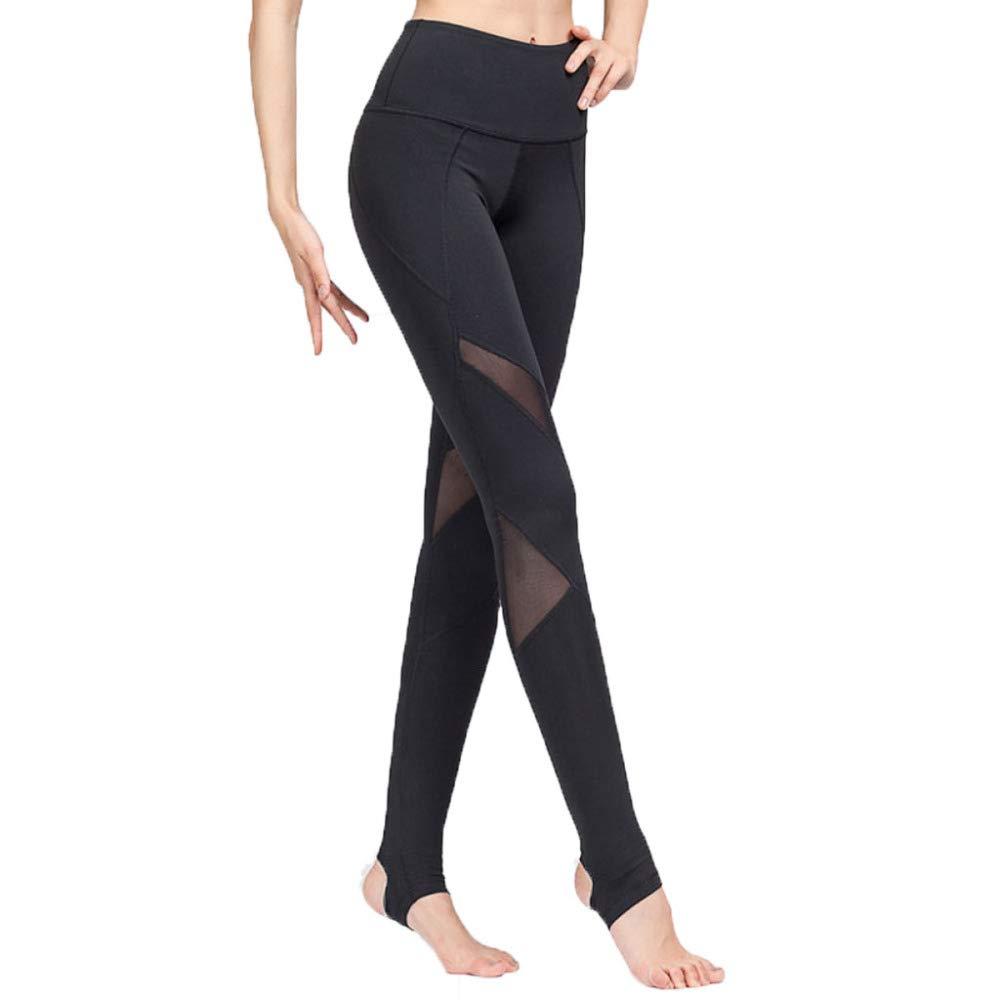 noir XL Pantalon De Yoga pour Femme Fitness en Plein Air Jambières Taille Haute EntraîneHommest De Course à Pied élastique à Séchage Rapide Mode