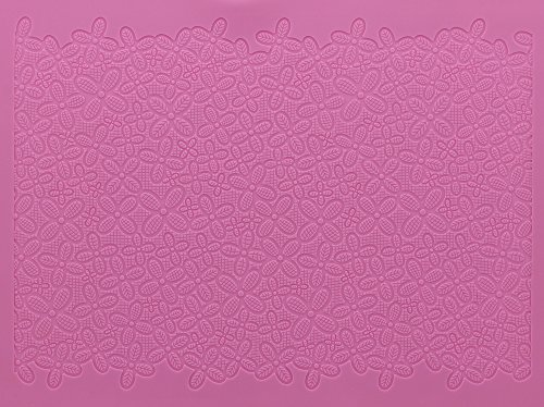 Cake Lace Large Victoriana Mat, Pink by