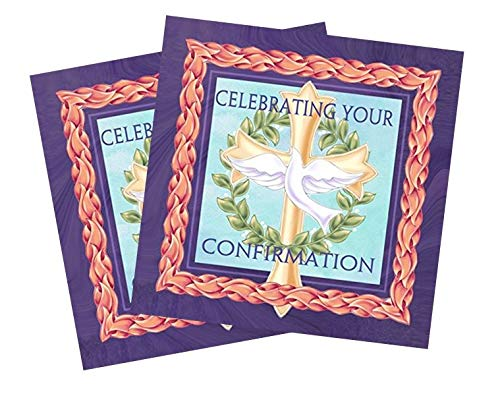 (Celebrating Confirmation Dove Cross 20 Count 3-Ply Paper Luncheon Napkins Pack of 2)