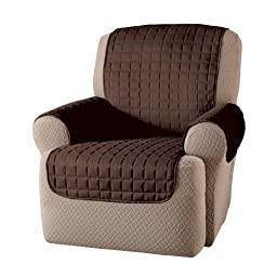 Innovative Textile Solutions Microfiber Wing Recliner Protector, Chocolate, 65\