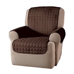 "Innovative Textile Solutions Microfiber Wing Recliner Protector, Chocolate, 65"" x 78"""