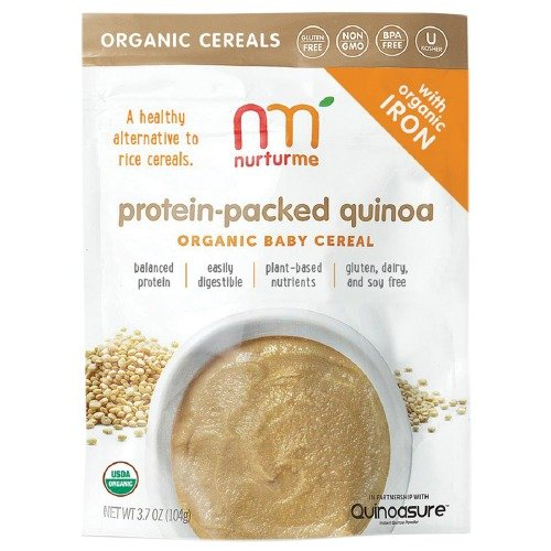 NurturMe Organic Baby Cereal, Protein-Packed Quinoa 3.7 oz (4 Pack)