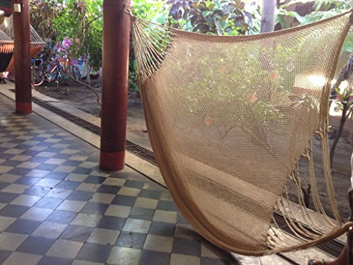 Handmade Mayan Hammock, Double Hammock, Brazilian Hammock – Made With 100% Organic Cotton – The World's Best Hammock! (Double, Cream)