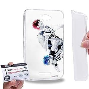 Case88 [Sony Xperia E4 / E4 Dual] Gel TPU Carcasa/Funda & Tarjeta de garantía - Kuroko's Basketball Tetsuya Kuroko Taiga Kagami 1416