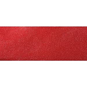 Deko-Woerner de la cinta de la gasa transparente m.Draht 40 mm/20 M de colour rojo