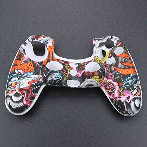 2PCs Anti-Slip Silicone Gel Rubber Soft Sleeve Skin Grip Cover case Dualshock 4 Playstation 4 PS4 Pro Slim Controller No.17 PS4 Controller Covers - Silicone Skin, Silicone Cover A446