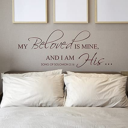 Incroyable Enid545Anne Master Bedroom Wall Art Decal Wall My Beloved Is Mine And I Am  His Wall