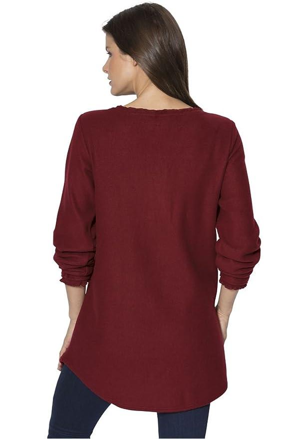 588f20785dc Roamans Women s Plus Size Sherpa Tunic - Black