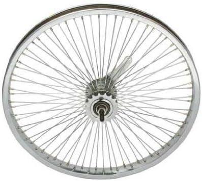 "ORIGINAL BIKE BICYCLE 20/"" CHROME  HOLLOW-HUB STEEL WHEEL IN 72 SPOKE! NEW"