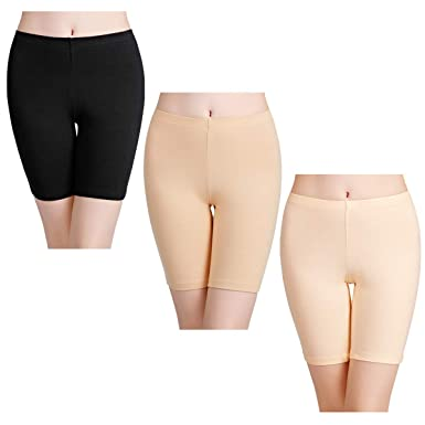 2def6b2da0a16 wirarpa Women's Anti Chafing Cotton Shorts Long Leg Knickers Ladies Soft  Boxer Shorts Underwear 3 Pack