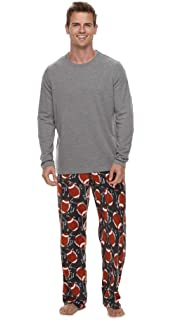 10daf2620 Croft and Barrow Men s Long Sleeve T-Shirt   Microfleece Lounge Pants Set