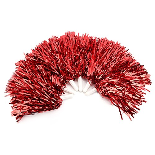 VGEBY 6Pcs Cheerleading Pom Poms Cheerleader Sports Party Dance Accessory Hand Flowers Pompoms Cheers -7 Colors to Choose (Color : -