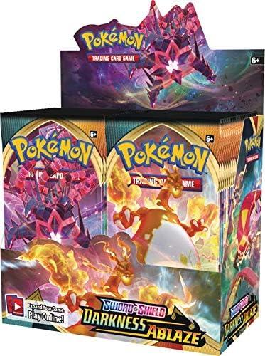 Pokemon Sword and Shield: Darkness Ablaze caja de refuerzo (36 paquetes de refuerzo): Amazon.es: Juguetes y juegos