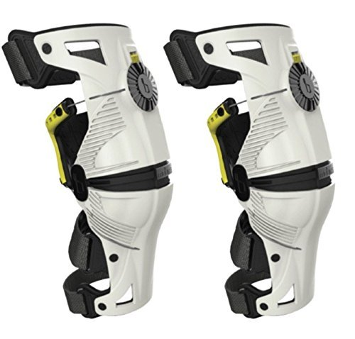 Mobius X8 Knee Braces Large White / Acid Yellow