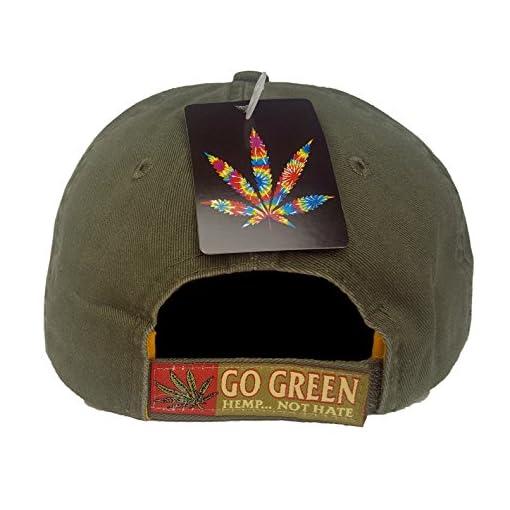 fe921fa16fc Hemp Not Hate Cannabis Marijuana Leaf Weed MJ Ganja Baseball Cap ...