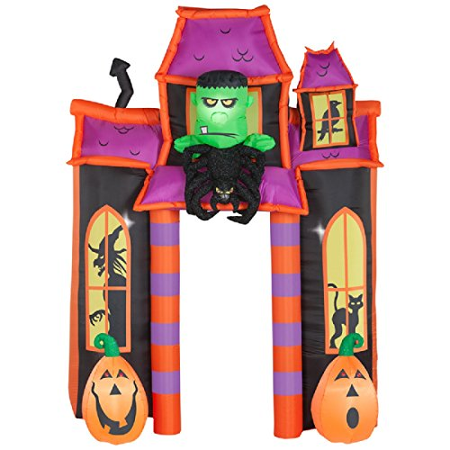 Halloween Inflatable Animated Monster Haunted House Archway -