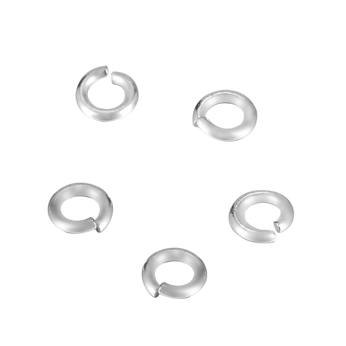 SG 180pcs 925 Sterling Silver Open Jump Ring Jewellery Making Findings 3mmx0.6mm SGto-B288896