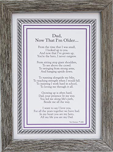 Dad, Now That I'm Older- Gift for Dad from Son Or Daughter for Father's Day, Christmas, Birthday