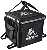 TheBiker Pizza Delivery Backpack, 17 x 16 x 16 inches(44cm x 41 cm x 41cm), Food Delivery Backpack, Food Delivery Bag, Thermal Backpack,Heat Insulated Backpack, Insulated Backpack 2-Way Zipper (Black)