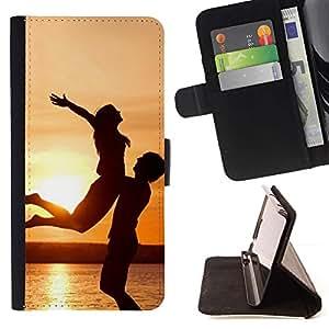 Momo Phone Case / Flip Funda de Cuero Case Cover - Puesta del sol de la felicidad;;;;;;;; - LG G4c Curve H522Y (G4 MINI), NOT FOR LG G4
