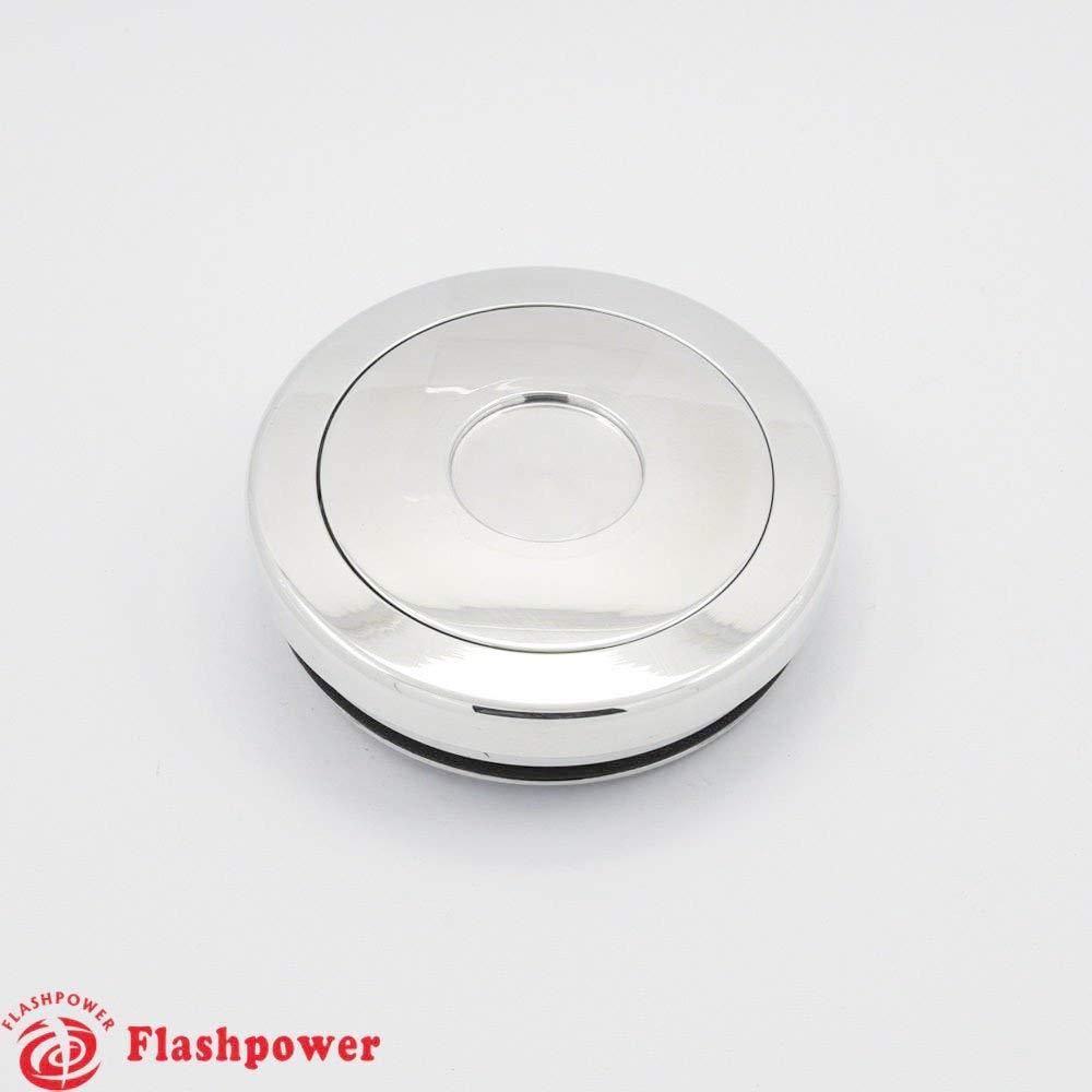 Billet Aluminum Steering Wheel Horn Button Small Plain High Polished