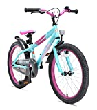 Bikestar Original Premium Safety Sport Kids Bike Bicycle for Kids age 6 year old children | 20 Inch Mountain Bike Edition | Berry & Turquoise