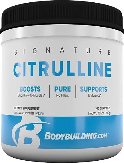 Amazon Com Bodybuilding Signature Citrulline Powder L Citrulline Supplement Energy Blood Muscle Booster Gluten Free 200 Grams Health Personal Care