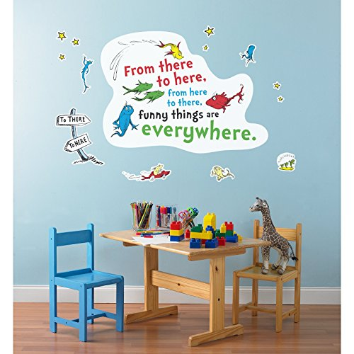 Dr. Seuss One Fish Two Fish Inspirational Quote Giant Wall (Dr Banner Costume)