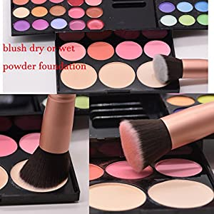 Makeup Brushes Powder Foundation Concealer Eyeliner Makeup Brush Set Cosmetics Tool with Beauty Sponge Blender Cleaner Rose Gold 14 Pcs