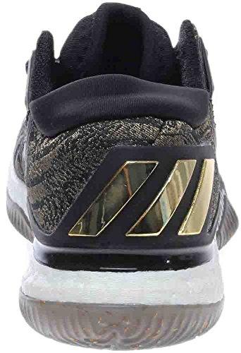 Scarpa Da Basket Adidas Performance Mens Crazylight Boost Low 2016 Metallizzata / Nera / Bianca