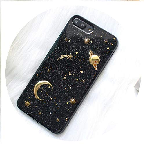 - Gold Moon Stars Planet Phone Case for iPhone X Case for iPhone 6S 6 7 8 Plus Bling Glitter Universe Series Cover Cases Capa,BHeart to Hear,for iPhone 7