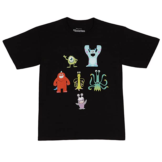 0b479455 Amazon.com: Monsters Inc. Monster Poses Youth T-Shirt Black (Medium ...