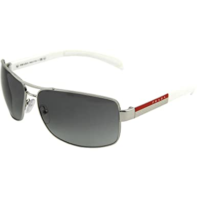 70dc5a2250 Prada Linea Rossa 54i Silver Frame Grey Gradient Lens Metal Sunglasses   Prada  Amazon.co.uk  Clothing