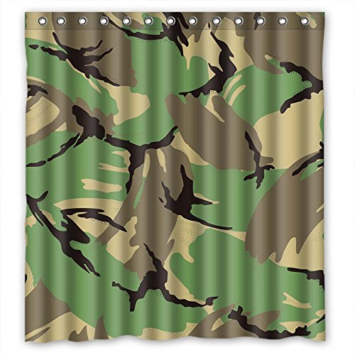[Monadicase Polyester Camo Bath Curtains Width X Height / 66 X 72 Inches / W H 168 By 180 Cm Gift Or Decor For Teens,her,valentine,custom,bf. Wipe Clean -] (1970s Tennis Costume)