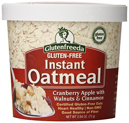 Glutenfreeda's Instant Oatmeal Cups, Cranberry Apple with Walnuts and Cinnamon, 2.64 Ounce (Pack of 12) by Glutenfreeda's