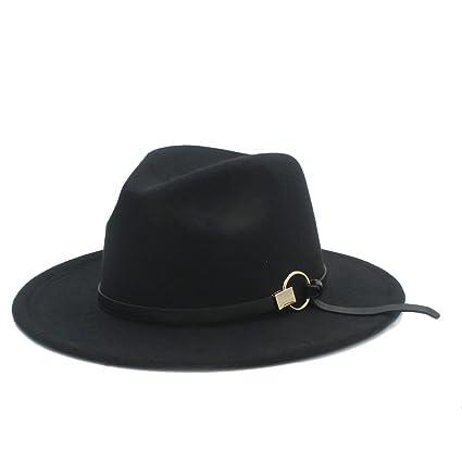 Amazon.com  MILUCE Women Men winter Fedora Hat With alloy accessories (  Color   1  9a2dcbcbfaf