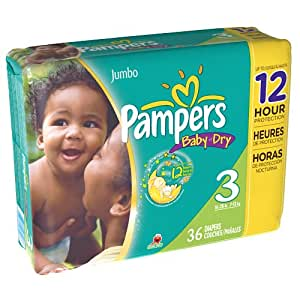 Amazon Com Pampers Baby Dry Diapers Size 3 Jumbo Bag 36