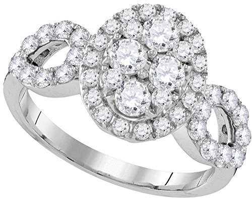 Oval Diamond Cluster Ring - 7