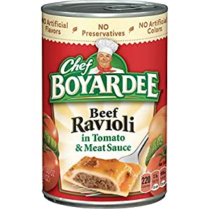 Chef Boyardee in Tomato and Meat Sauce Beef Ravioli, 12 Count (Pack of 12)