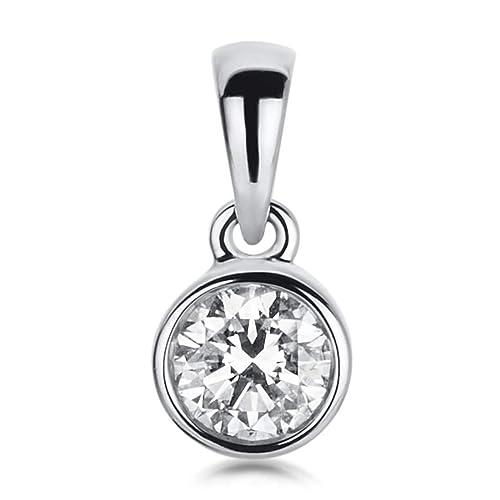 8644a7107859 Collar Joyas Jewels - Colgante de oro blanco 750 con Brillant 0