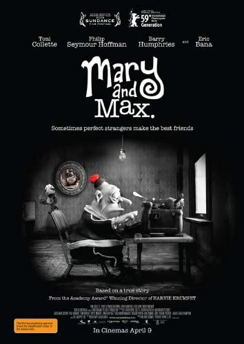 Amazon Com Mary And Max Movie Poster 27 X 40 Inches 69cm X 102cm 2009 Australian Toni Collette Philip Seymour Hoffman Eric Bana Barry Humphries Bethany Whitmore Prints Posters Prints