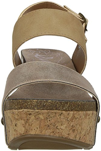 Nubuck Natural Wedge Women's SGR Sandal Sugar Jeffrey Dark x08w4aU