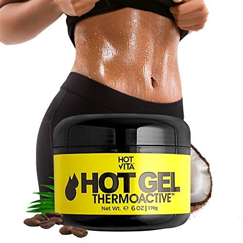 (Hot Vita Hot Gel ThermoActive – Workout Enhancer Sweat Cream with Coconut oil, Jojoba Seed Oil, Coffee Arabica Seed Extract, Olive Oil and Green Tea Leaf Extract for Women (6 Ounce))