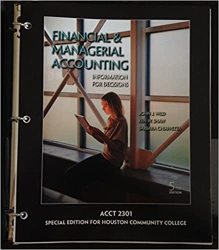 Acct 2301 financialmanagerial accounting special edition for acct 2301 financialmanagerial accounting special edition for houston community college ken w shaw barbara chiappetta john j wild 9781259132810 fandeluxe Images