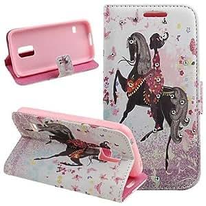 Teléfono Móvil Samsung - Carcasas de Cuerpo Completo/Fundas con Soporte - Diseño Especial - para Samsung Galaxy Mini S5 ( Multi-color , Cuero PU )