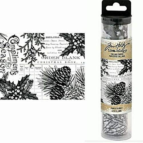 Tim Holtz 2018 Christmas Idea-Ology, Forest Collage Paper